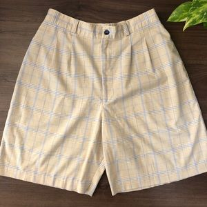 Vintage Plaid High Waist Shorts